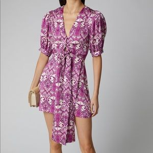 Alexis Printed Tie Front Dress